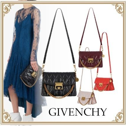 GIVENCHY☆SMALL GV3 BAG IN QUILTED LEATHER 2WAY BK/BD/RD/PK