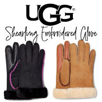 【UGG】SHEARLING EMBROIDERED GLOVE シアリング グローブ 手袋