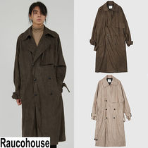★Raucohouse★『SPECIEAL』男 raglan suede trench coat
