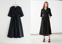 【& Other Stories】Relaxed Midi Wrap Dress