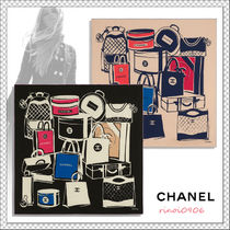 21AW*CHANEL*シルク ツイル スカーフ バッグ モチーフ 2色