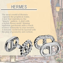 Hermes☆Parade cufflinks, small model クールで上品なデザイン