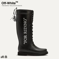 "OFF-WHITE | ""FOR RIDING"" WELLINGTON BOOTS  関税送料込"