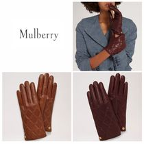 Outlet 【Mulberry】 Quilted Nappa Gloves レザー手袋
