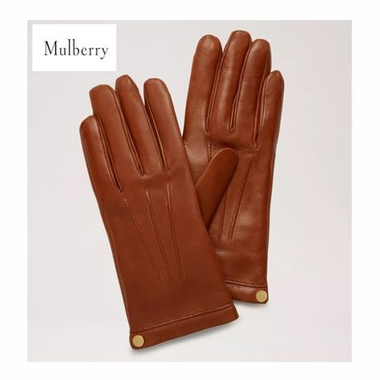 Outlet 【Mulberry】 Soft Nappa Leather Gloves レザー手袋