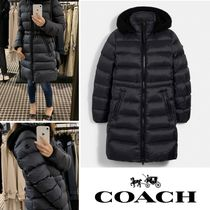 COACH Long Slim Puffer 膝丈ダウンコート