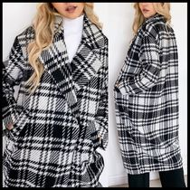 ASOS Only oversized wool coat in check