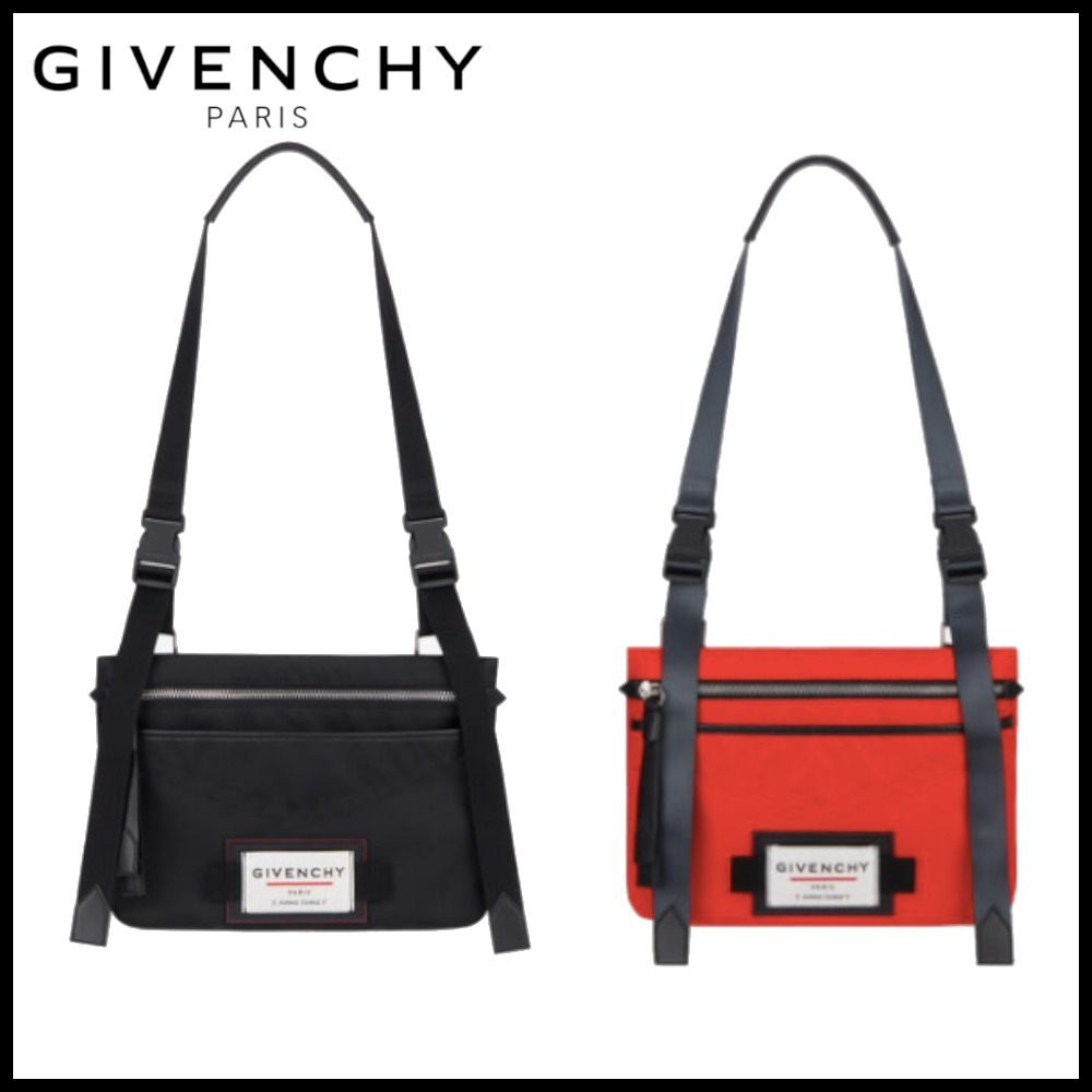 GIVENCHY DOWNTOWN ナイロン フラット クロスボディバッグ (GIVENCHY/ショルダーバッグ) BK5063K0S9-001  BK5063K0S9-606