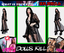 xoxo【 DOLLS KILL 】MISTRESS IN MARABOU LONGローブ