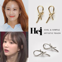 韓国発【Hei】Knot post earring☆追跡付