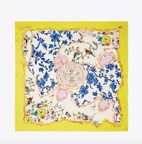 Tory Burch MIXED-FLORAL SILK SQUARE SCARF