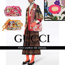 GUCCI グッチ Flora Leather GG Canvas XBODY【送料0/国内即発】