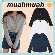 muahmuah◆TWO BUTTON POINT T-shirt
