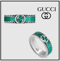 ☆GUCCI☆Ring with Interlocking G★ターコイズリング★6mm