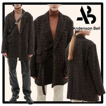 ☆ANDERSSON BELL☆UNISEX TWEED STRAP DOUBLE BREASTED JACKE.T