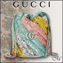 《GUCCI直営店》雑誌掲載アイテム GG Marmont バケットバッグ♪