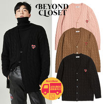 Beyond Closet OVER SIZE MOHAIR CABLE CARDIGAN BBH956 追跡付