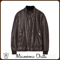 MassimoDutti♪REVERSIBLE QUILTED LEATHER JACKET