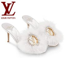 希少!LOUIS VUITTON☆LV Marilyn Mules ミュール ホワイト