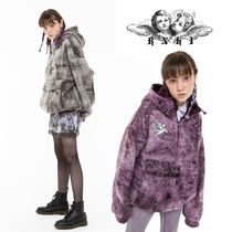 【RNHI】 ANGEL EMBROIDERY DYED FUR ANORAK ボアフリース 2色
