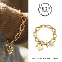VINTAGE HOLLYWOOD★Open Your Heart Chain Bracelet /追跡送