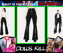 大人気★【 DOLLS KILL 】SHOWDOWN SLIT BELL BOTTOM PANTS