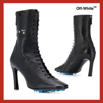 VIP価格【Off-White】105mm leather ankle boots 関税込