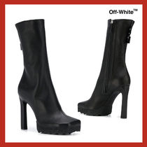 VIP価格【Off-White】leather logo patch ankle boots 関税込