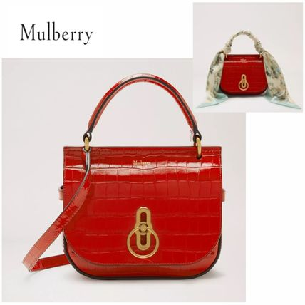 Outlet 【Mulberry】 Small Amberlry Bag スカーフ付きバッグ