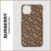 [Burberry] モノグラムプリントE-canvas iPhone 11Proケース☆