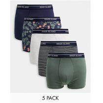 River Island floral print hipsters in navy and khaki 5 pack