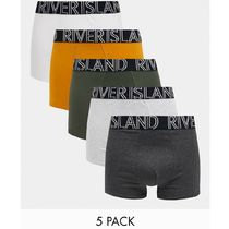 River Island hipsters in green and mustard 5 pack