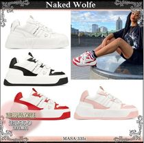 20AW☆送料込【Naked Wolfe】 CROWN レザー 厚底スニーカー