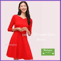 【kate spade】最終SALE★ponte fit-and-flare dress★