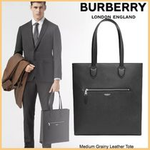 品格感じるLXストリート◆BURBERRY◆Medium Grainy Leather Tote