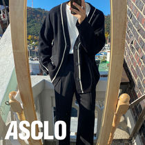 ASCLO Cuffs Button Line Wool Cardigan (4color)