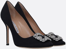 MANOLO BLAHNIK■■HANGISI SATIN PUMPS