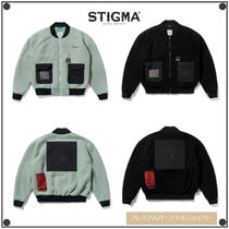 日本未入荷STIGMAのBLEND OVERSIZED FLEECE MA-1 JACKET 全2色