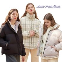 【Letter from Moon】Check Reversible ダウンジャケット 2色