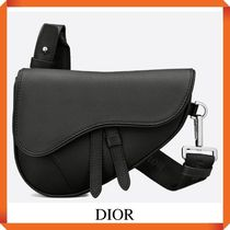DIOR BLACK GRAINED CALF MINI SADDLE BAG