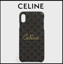 *… CELINE …*IPHONE XS MAX レザー ケース トリオンフ文字入
