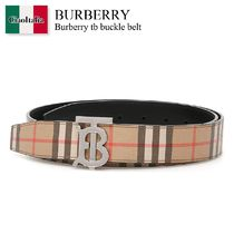 Burberry tb buckle belt