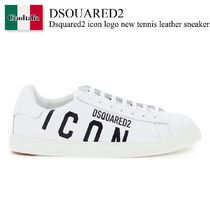 Dsquared2 icon logo new tennis leather sneakers