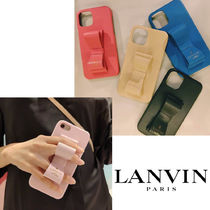 LANVIN(ランバン) iPhone・スマホケース リボン【LANVIN en Bleu】SLIM WRAP STAND iPhone12/ 12Pro mini