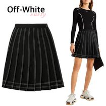 【Off-White】プリーツ入り  ミニスカート 送料・関税込み