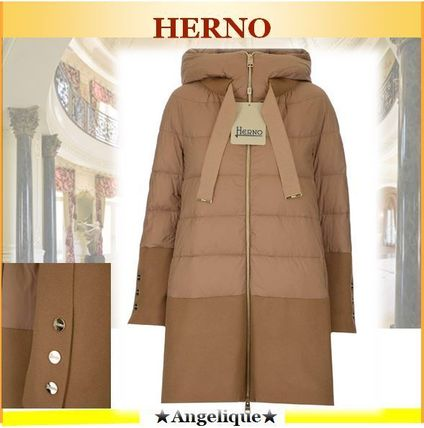 Herno★人気!切り替え★Herno Panelled Hooded Puffer Coat