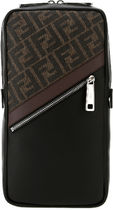 Fendi▽MULTICOLOR LEATHER AND FABRIC BACKPACK