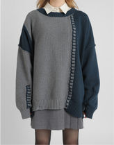 [our] Other Loosefit Unbalance Knit (2color)