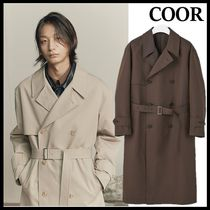 ★COOR★2020韓国人気★OVER-FIT  COTTON  TRENCH  COAT_[2色]