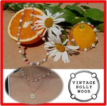 ☆☆VINTAGE HOLLYWOOD☆Vintage Daisy Necklace se.t☆